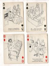 Collectible Vintage playing cards Cheer-up 52 nursing cartoons